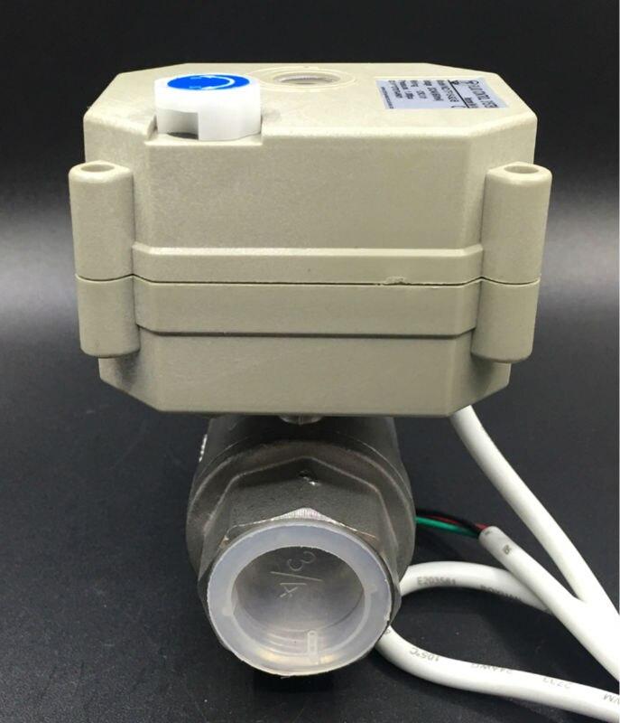 2 wege SS304 3/4 \'\'Full wege ventil Elektrische Absperrventil Mit ...
