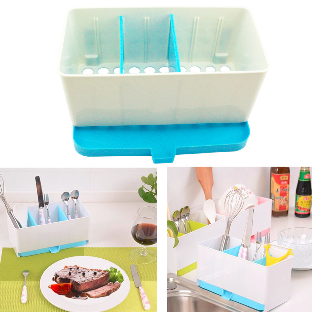 Free Shipping Multifunctional Plastic Caddy Drain Rack Storage Box ...