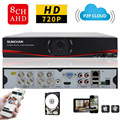 SUNCHAN HD 8CH 720P CCTV AHD DVR 8 Channel Digital Video Recorder Security DVR Surveillance for AHD & Analog Camera with 1TB HDD