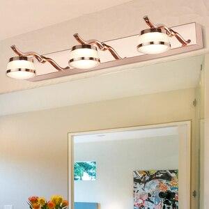 Image 1 - Zerouno Rose Golden Wall Lights Led mirror Lamp 3w 6w 9w16cm 32cm 46cm Bathroom Makeup vanity Lights Fixtures Lamp Bulb washroom