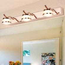 Zerouno różowe złota ściana światła Led lampa lustrzana 3w 6w 9w16cm 32cm 46cm łazienka makijaż vanity światła lampy żarówki ubikacja
