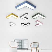 Modern multi-color creative arrow graphic corridor meeting room shopping mall bedroom study LED energy-saving ceiling lamp