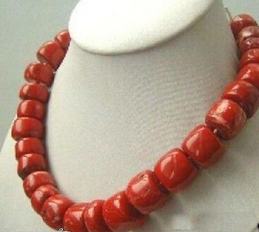 0940 natural Red Coral Necklace large beads
