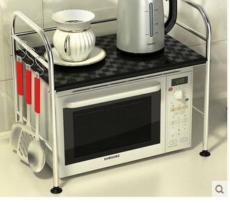 Microwave oven shelf of stainless steel kitchen shelf microwave oven rack shelf receive shelf