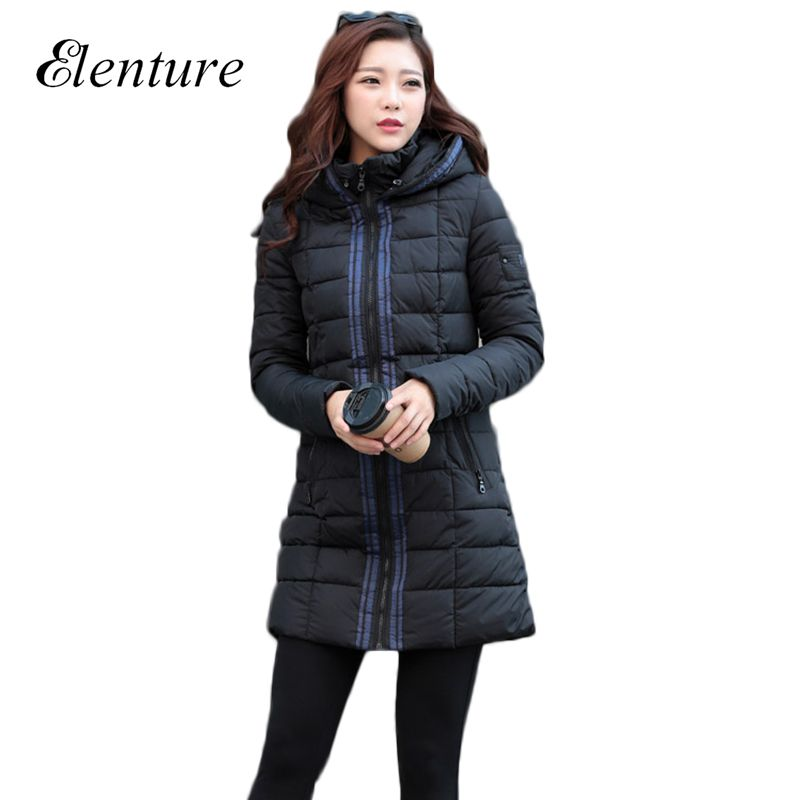 Korean Style Women Winter Coats And Jackets Warm Hooded Woman Down Parks Ladies Long Outwear Casaco Feminino Woman Clothes