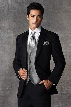 d983fc28841e Marfil traje de niño trajes de boda chico esmoquin (chaqueta + Pantalones +  chaleco + corbata) los ...