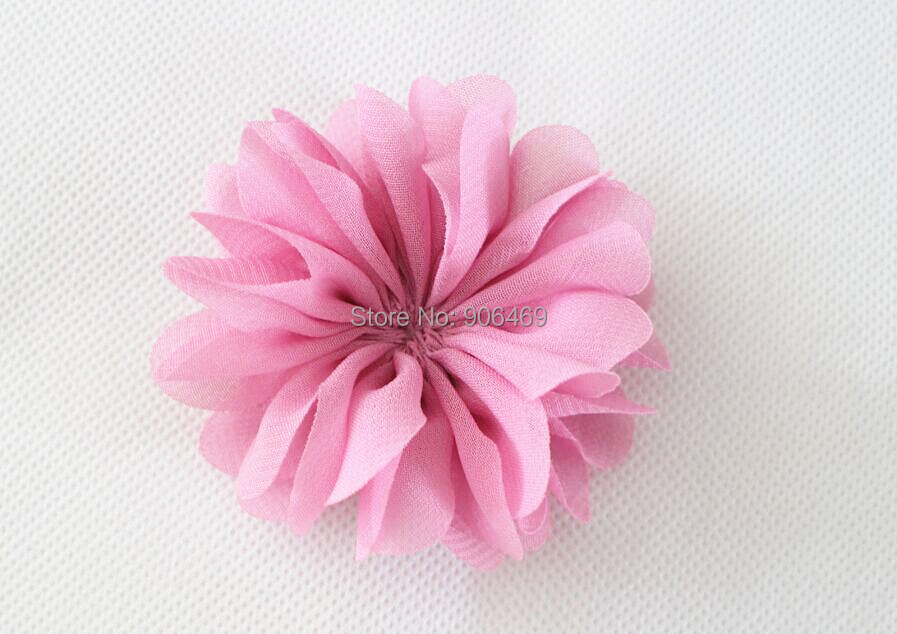 7cm Girl hair flower Ballerina Flowers Chiffon Flowers Fabric Flowers For Headbands Hair Accessories Unfinished 23colors