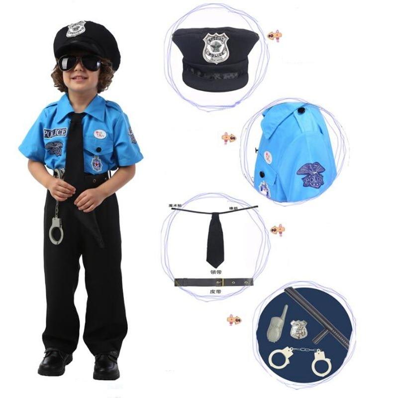 Çocuklar Cadılar Bayramı Polis Kostümleri çocuk Günü Erkek - Kostümler - Fotoğraf 2