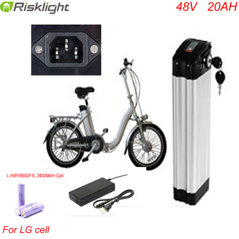 ebike battery 48v 1000w electric bike battery 48V 20Ah for bafang / 8fun 750w 1000w motor with Aluminium Case For LG 18650 Cell free customs taxes electric bike 36v 40ah lithium ion battery pack for 36v 8fun bafang 750w 1000w moto for panasonic cell