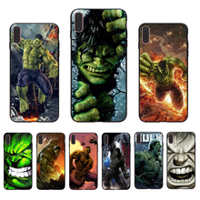 IMIDO Avengers League The Incredible Hulk Marvel Soft phone case for iphone X Xs Xr Xsmax 7 8 6 5 6s/6/7/8plus 5/6S cover shell imido oriental dragon pattern design soft black silicone phone case for iphone x xs xr xsmax 7 8 6 5 6s 6 7 8plus 5 6s tpu shell