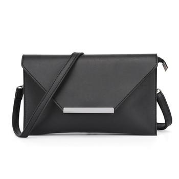VISON&JOHNSON Fashion Classic Black Envelope Crossbody Bag Ladies Messenger Bags Evening Shoulder Bag Female clutch Bolsa