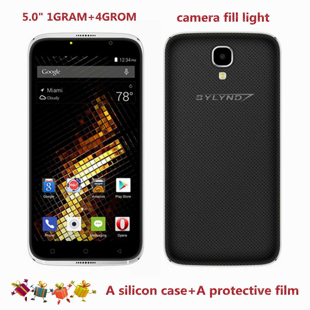 cheap celular BYLYND X6 Android 6.0 Original Smartphones free silicon case 1G RAM mobile phone 3G WCDMA 5.0MP unlocked HD 5.0""