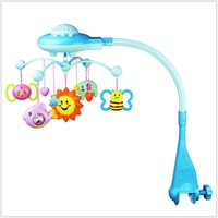 Star Projector Musical Crib Mobile Bed Bell Baby Rattle Rotating Bracket Projecting Toys For 0 12