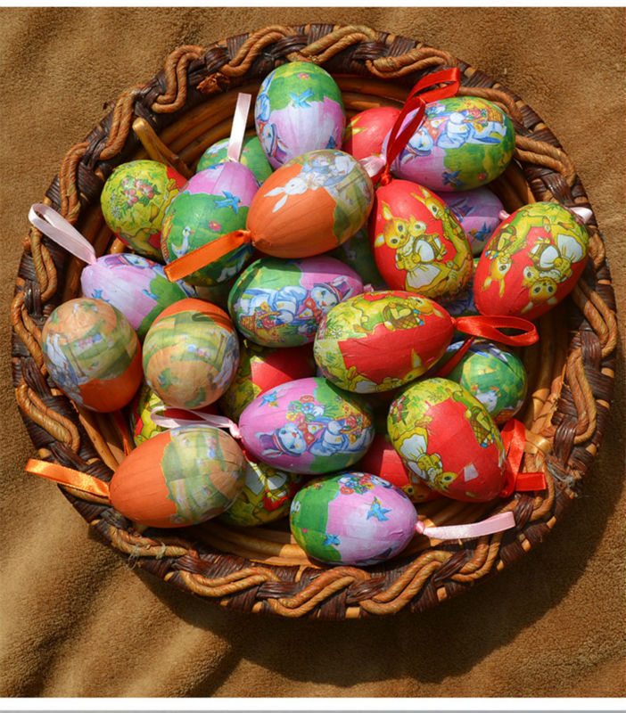 US $8.34 49% OFF|12 Pcs/lot Mixed style Easter Eggs Diy Cute Easter  Decoration Idea Peter Rabbit Gift For Kids Hand painted foam+paper Easter  Egg-in ...