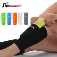 1 para piłka nożna skarpety ochronne ochraniacz na łydki z kieszenią na piłki nożnej nalogenniki ochraniacze na kolana wsparcie dla dorosłych łydki wsparcie skarpety