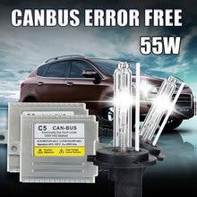 One set C5 55W H1 xenon Canbus Super slim xenon H1 HID kit 55w 12v 9905 9006 881 H4 H7 H1 H3 H8 H9 H10 H11 Canbus HID