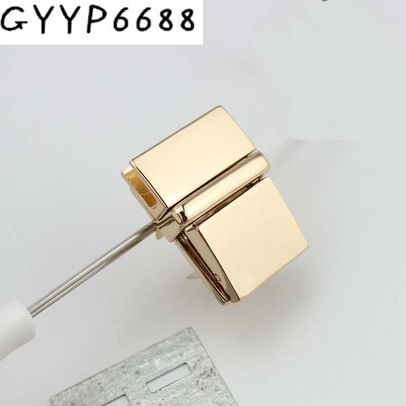 15set 37*25mm High Quality Fashion Pressed Lock Briefcase Lock Genuine Leather Bag Making Square Lock Hardware Accessories 5sets