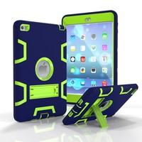 NEW Silica Gel PC High Quality Armor Shockproof Cases Cover For IPad Air2 And Air3 Silicone