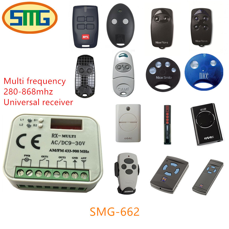 315mhz 433mhz 868mhz faac,ditec,sommer,liftmaster,nice,faac,marantec,hormann rolling code universal remote control Receiver multi frequency adjustable cloning rolling code remote control duplicator 433 868 315 418 mhz compatible nice ata faac sommer