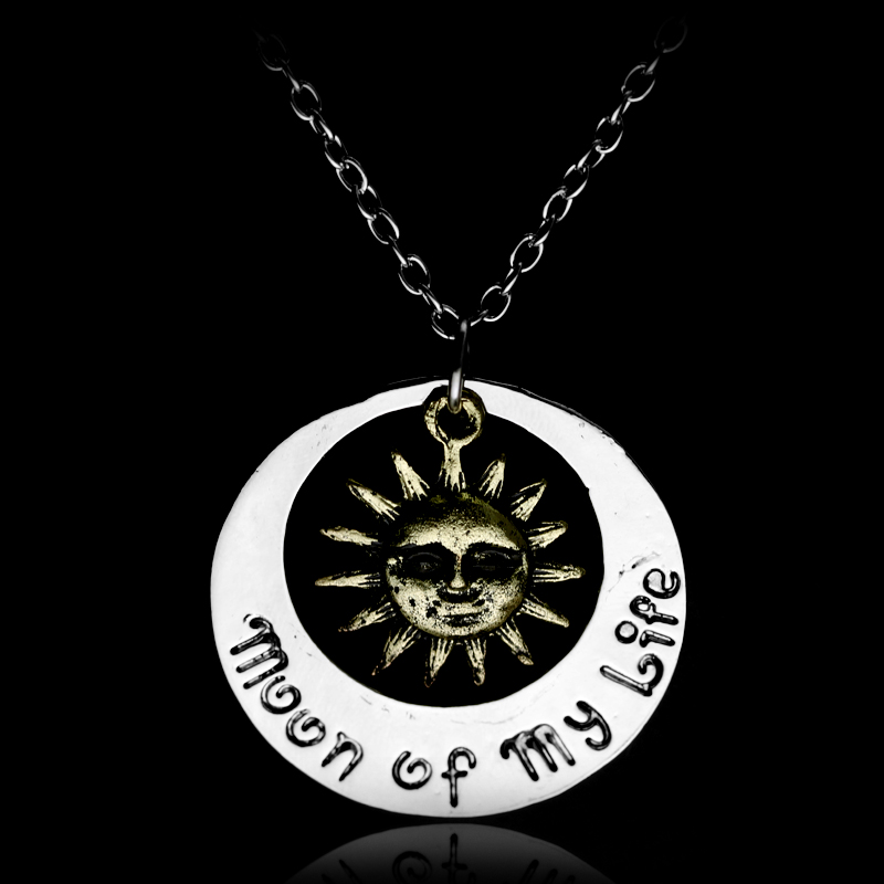 dongsheng Game of Thrones Moon of my life Pendant Necklace Khal Drogo My Sun and Stars Daenerys for Women and Men-30