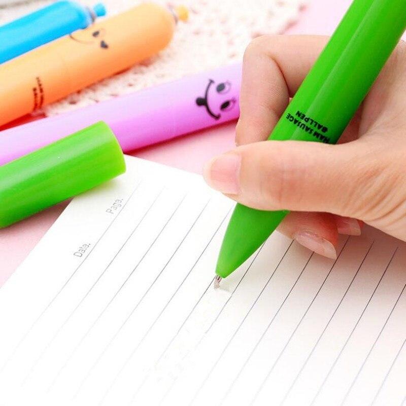 Новинка мультфильм колбаса шариковая ручка Офис Школьные Канцелярские ручки Дети День рождения Рождество Подарки для гостей