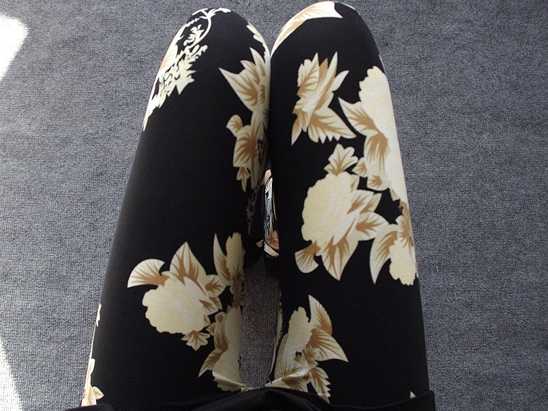 BIVIGAOS Spring Summer Womens Fashion Black Milk Thin Stretch leggings Colored Stars Graffiti Slim Skinny Leggings Pants Female 8