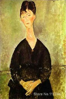 Women painting Cafe Singer Amedeo Modigliani artwork on canvas High quality Hand painted