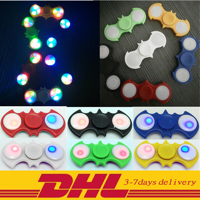 30 PCS DHL LED Hand Spinner Fingertip gyroscope The bat of Two Spinner Plastic For Autism
