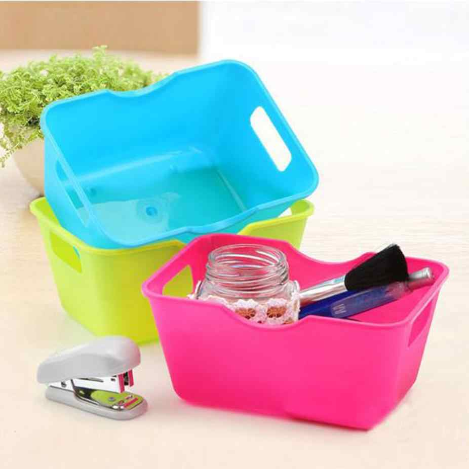 plastic box creative office desktop makeup organize storage box cosmetic caseholder small objects container saving space