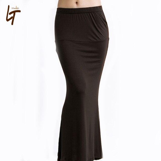 455f6b43aa Women Summer Casual Low Waist Long Skirt Candy Color Fashion Slim Fit Maxi  Skirt Fishtail Skirt Plus Size Women Long Skirts