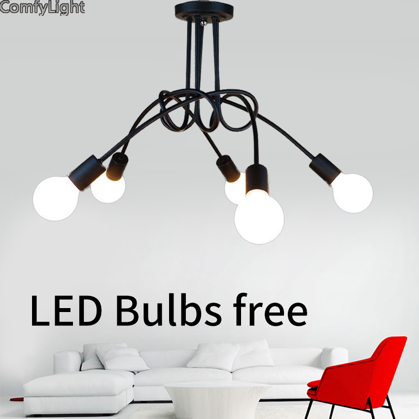 Adjustable Led Ceiling Lights For Luminaria E27 Ceiling iron Lamps Fixtures For Home Lig ...