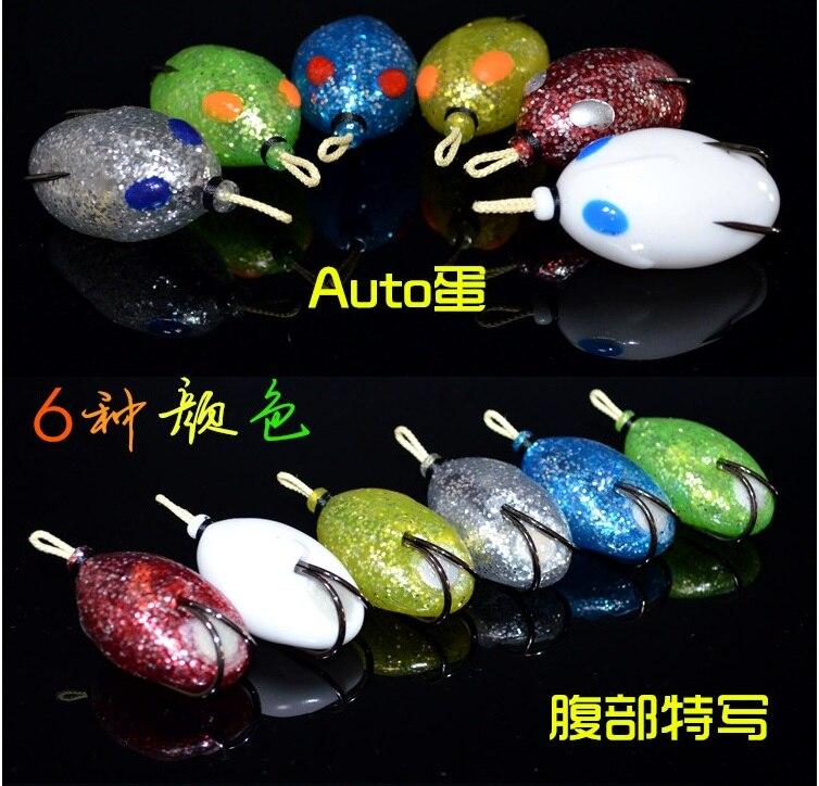 Kawa Nuovo Richiamo di Pesca Esche In Plastica Morbida Lure Killer Frog Fishing Lure Forma di Uovo con Protezione Erbaccia Gancio 5 cm, 12g