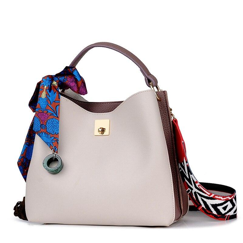 Paneles Litchi patrón suave pu mujeres bolso de cuero de dos piezas ...