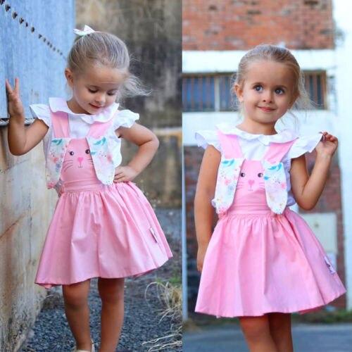 2019 easter toddler dress cute rabbit kids girls dress