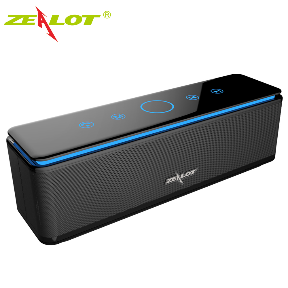 ZEALOT Bluetooth Wireless Speaker Touch Control Speakers 4 Drivers Audio Home Music Theatre 3D Stereo System Computer Phones micro music system philips btm2460 musical centers and radio cassettes speakers home audio