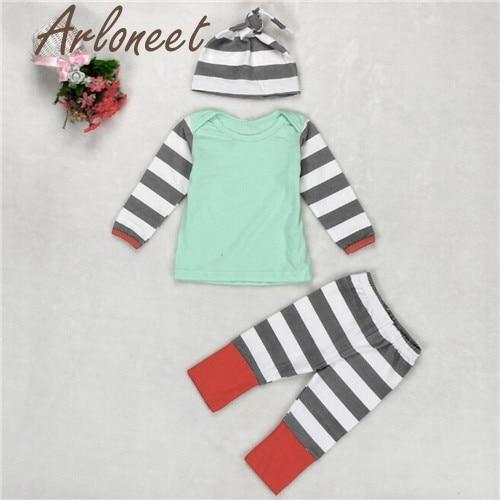ARLONEET New Year Fashion Christmas pajamasBaby Boys Girs Outfit Clothes Long Sleeve Str ...