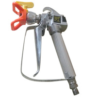 Airless Paint Spray Gun With Trade Tip High Pressure No Gas Sprayer 3600 PSI Tool Silver