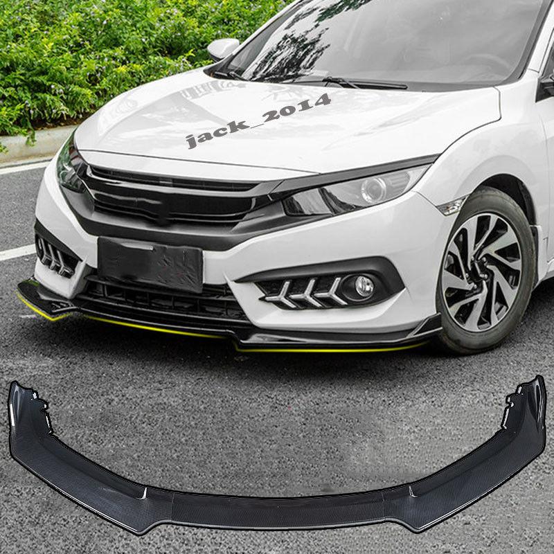 Carbon Fiber Front Bumper Lip Body Spoiler Fit For Honda