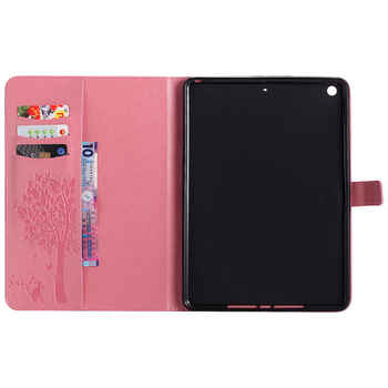Case For Apple iPad 9.7 2017 2018 5th 6th Generation Cases Cover A1822 A1954 Funda Tablet Cat Tree Pattern Stand Shell +Film+Pen