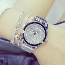2017 Luxury Women Watches Austrian crystal Lady Dress Watch Stainless Steel Rhinestone Silver Gold Bracelet diamond Wristwatches