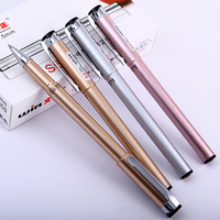 12pcs Box Fashion Simple Silver Gold Rose Gold Black Ink Gel Pen Winning High Quality Business
