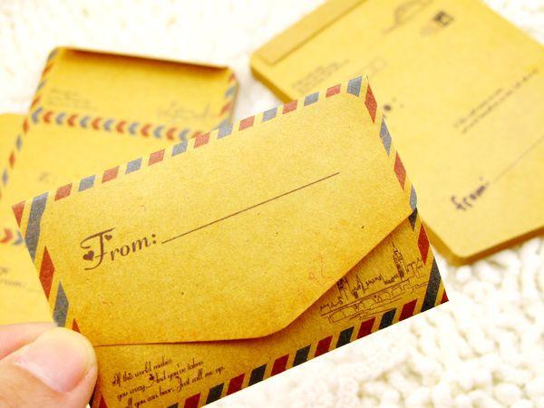 Us 439 10 Off1 Paket 50 Pcs Vintage Mini Kraft Kertas Amplop Surat Amplop Coklat Pernikahan 75x52 Cm In Kartu Undangan From Rumah Taman
