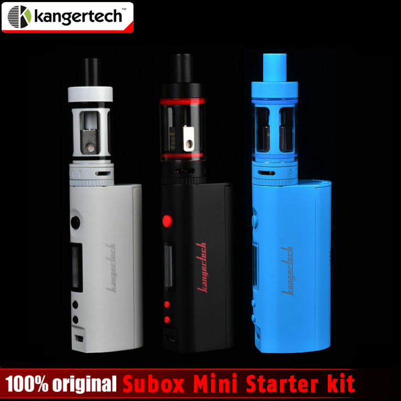 100% Original Kangertech Subox Mini Starter kit 50W 0.3ohm Kangertech Subtank Mini Atomizer Kbox Mini no 8650 Battery