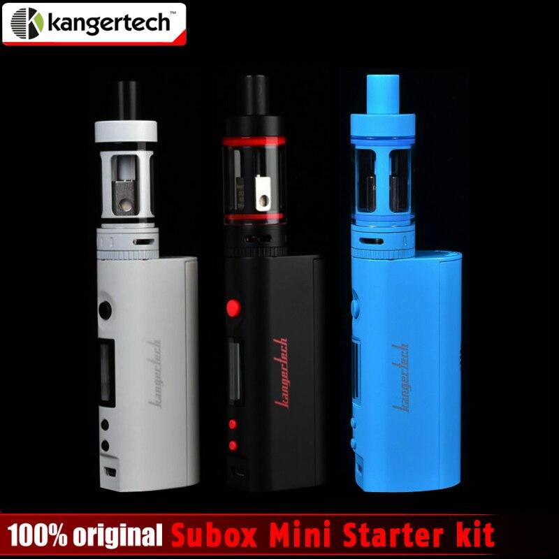 100% original kangertech subox mini Kit de arranque 50 W 0.3ohm kangertech subtanque mini atomizador kbox mini no 8650 batería
