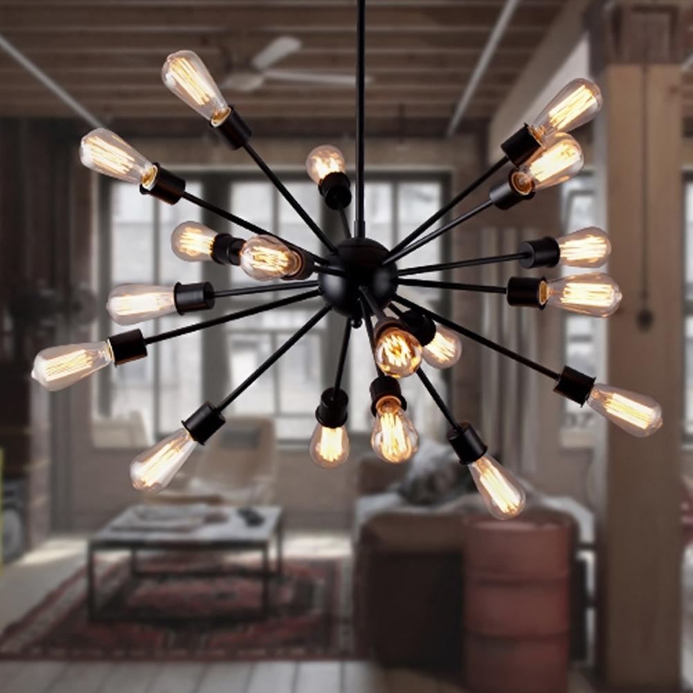 Us 57 59 36 Off Diy Pendant Lights Modern Nordic Retro Hanging Lamps Edison Bulb Fixtures Satellite Ceiling Lamp Fixture Light For Living Room In