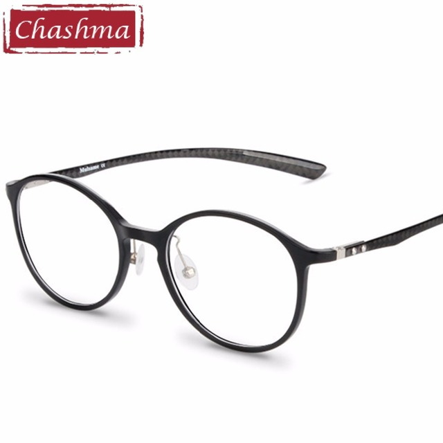 95ea0ffd4 Chashma Brand Carbon Fiber Male Frame armacao oculos de grau Eye Glasses  Quality Frames Women Round Retro Eyeglasses Trend