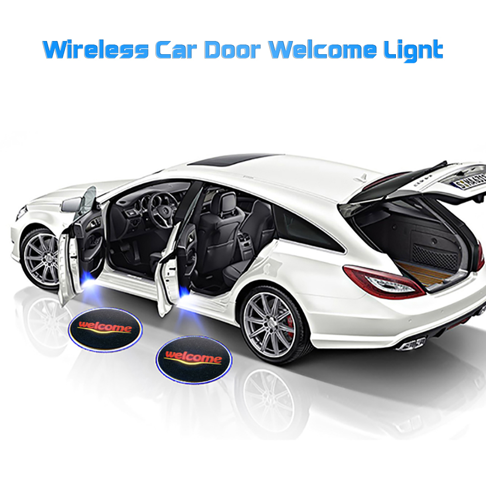 Cunymagos 1PC Wireless Car Door Welcome Light Ghost Shadow Light Welcome Logo Projector Car LED Door Light For Ford BMW Toyota Volkswagen  (2)