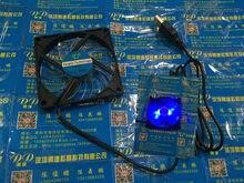 Ventilador silencioso 5v com azul led, novo 8015 80mm 8cm 80*15mm ventilador conector usb,