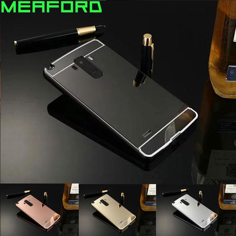Mirror Case For LG G4 Stylus Case Aluminum Metal Bumper Hard PC Back Cover For LG G4 Stylus / G Stylo LS770 H631 H540f Carcasa