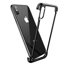 OATSBASF Airbag Metal Phone Case For iPhone X 6 6s 7 8 Plus Cover Case for Samsung Galaxy S8 S9 Plus Case Slim Protective Shell